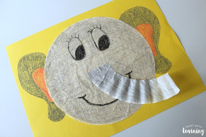 Cute Coffee Filter Elephant Craft for Kids