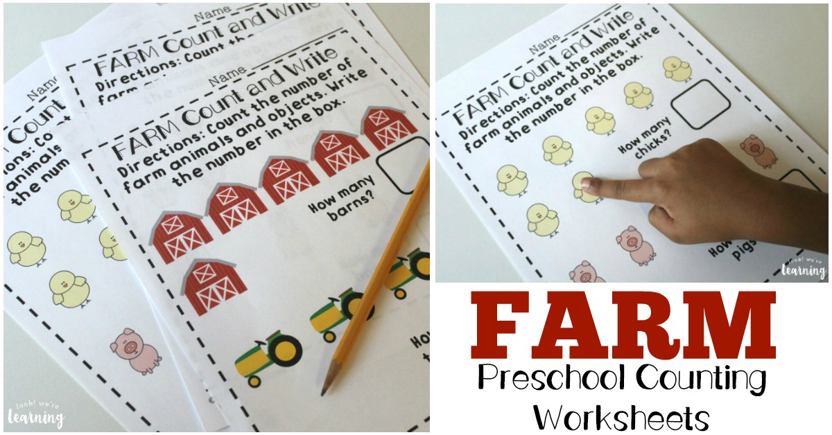 Preschool Worksheets: Fall Counting Worksheets - Look! We\'re Learning!