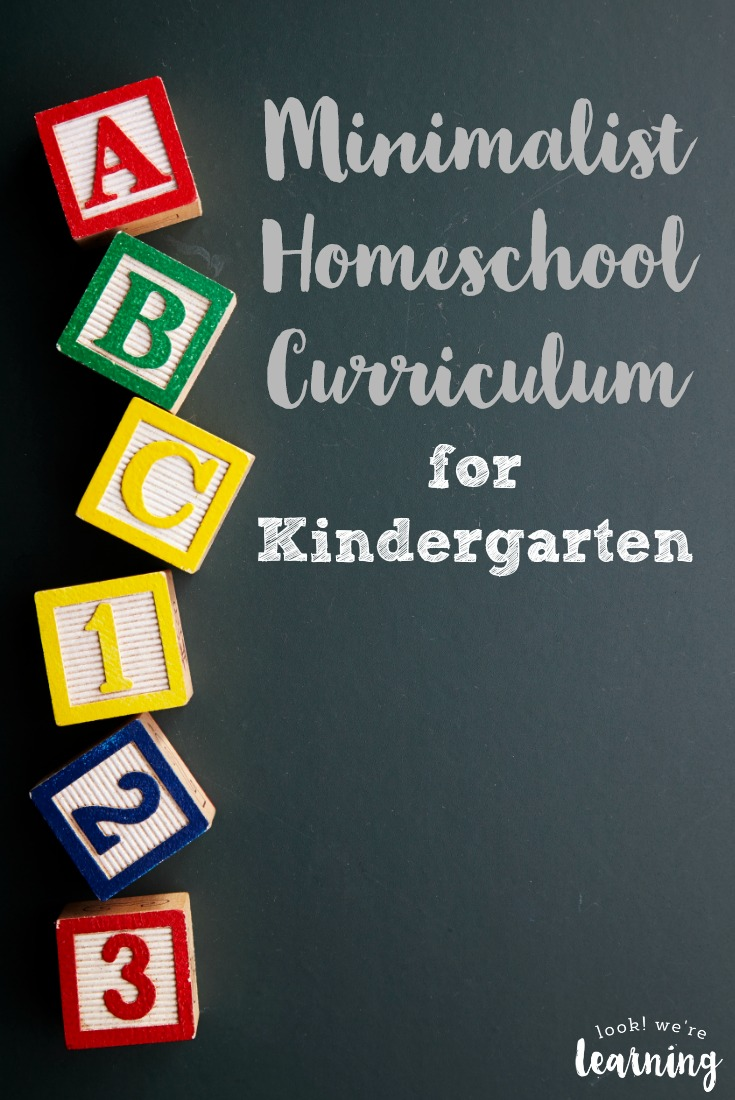 Get your little one off to a gentle start with this minimalist homeschool curriculum for kindergarten!
