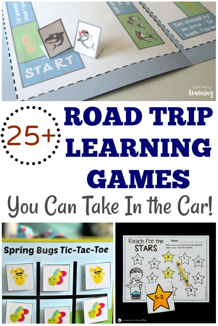 Make your next vacation into a fun learning adventure with these educational printable road trip games for kids!