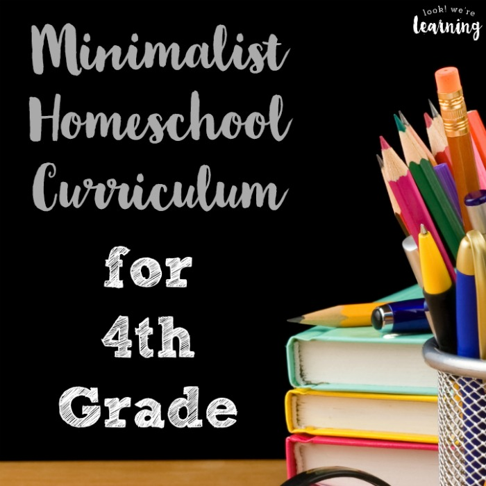 Minimalist Fourth Grade Homeschool Curriculum