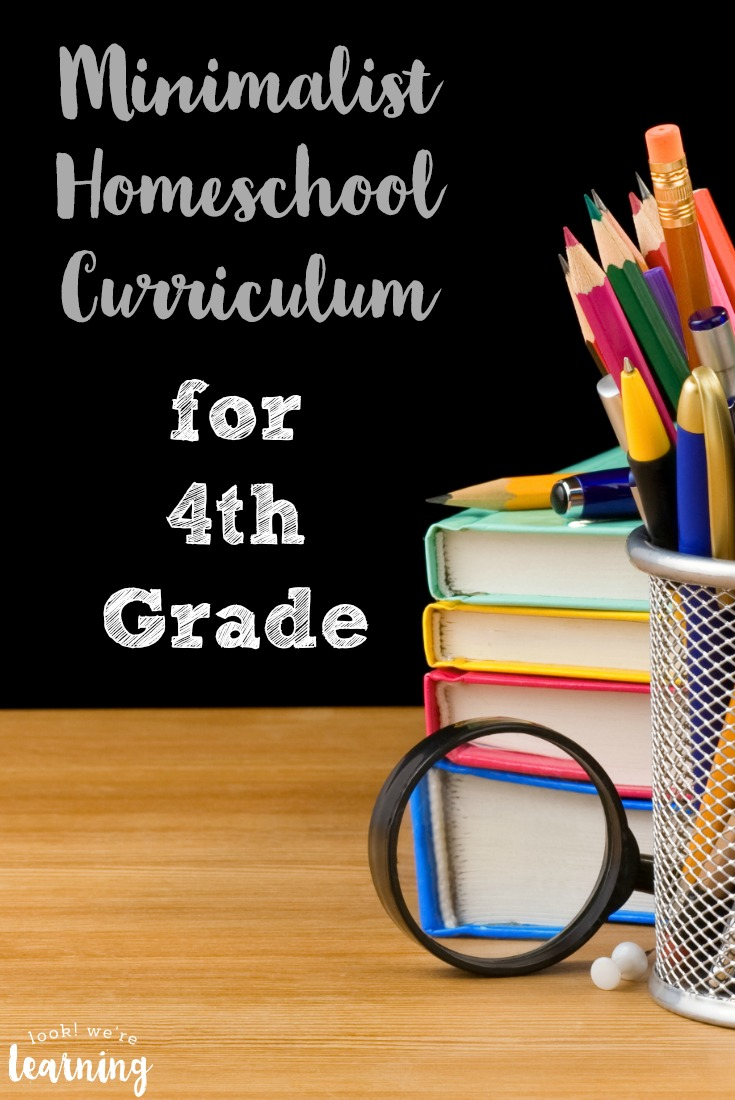 Need to streamline your homeschool lessons? Take a look at this minimalist homeschool curriculum for fourth grade!
