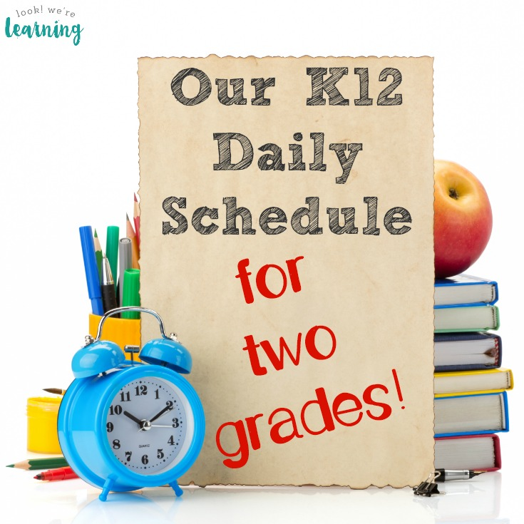 Our Daily K12 Schedule for Two Grades