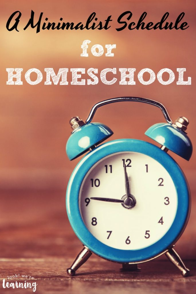 Overwhelmed by planning your homeschool day? Try this minimalist homeschool schedule to get started!