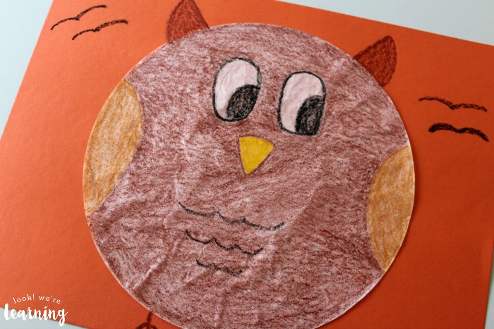 Owl Coffee Filter Craft for Kids