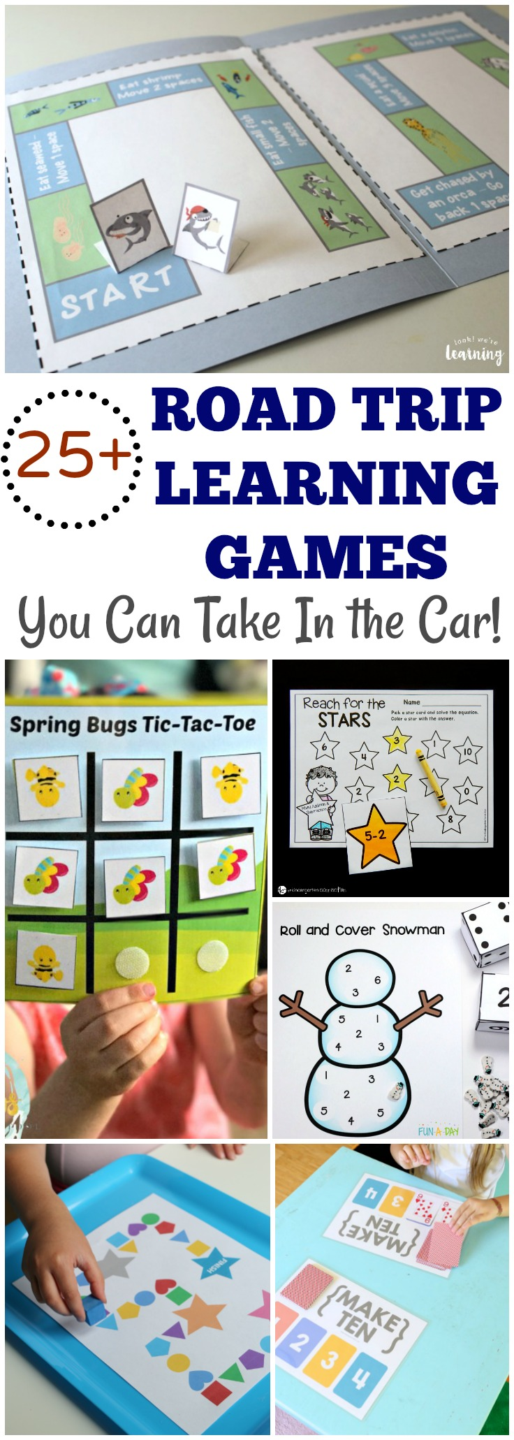 Pack up the car and bring along these printable road trip games for kids to keep learning while you ride!