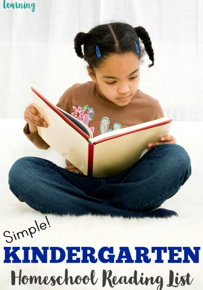 Ready to get your little one reading? This simple kindergarten homeschool reading list features early readers kids will love!