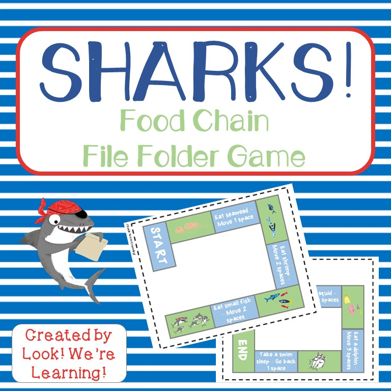 Shark File Folder Game