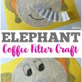 Take a trip to the zoo with this cute coffee filter elephant craft for kids!