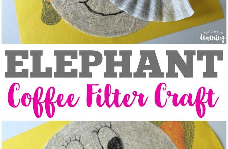 Coffee Filter Crafts for Kids: Coffee Filter Elephant Craft
