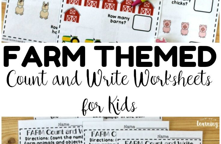 Preschool Worksheets: Farm Themed Fall Counting Worksheets