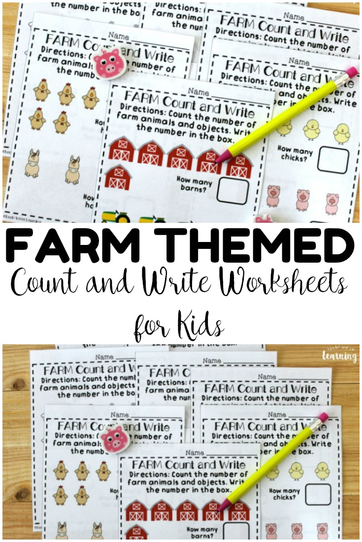 These no prep fall counting worksheets for preschoolers feature a fun farm theme! Use them for classwork or at math centers!