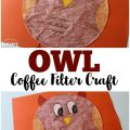 This cute coffee filter owl craft is a fun way to add art to a lesson about woodland animals!