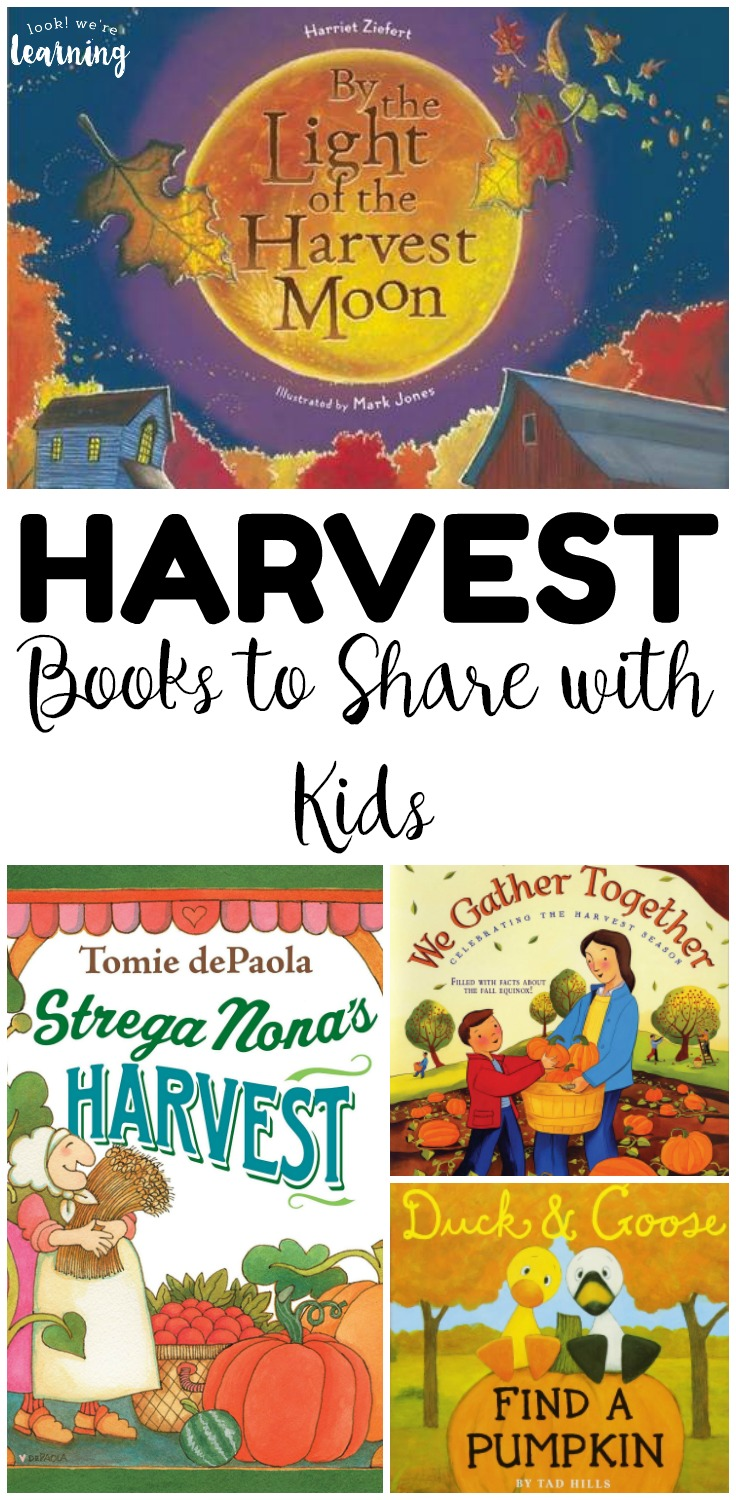 Welcome the fall season with these beautiful harvest books for kids! Share a few of these children's books about harvest during read aloud time!
