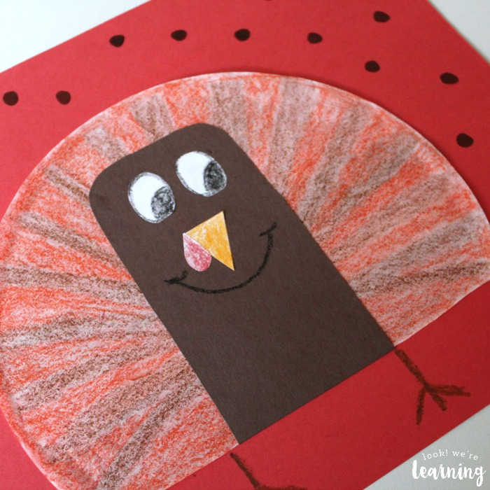 Coffee Filter Crafts For Kids Coffee Filter Turkey Craft Look We