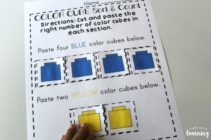 Color Counting Preschool Worksheets