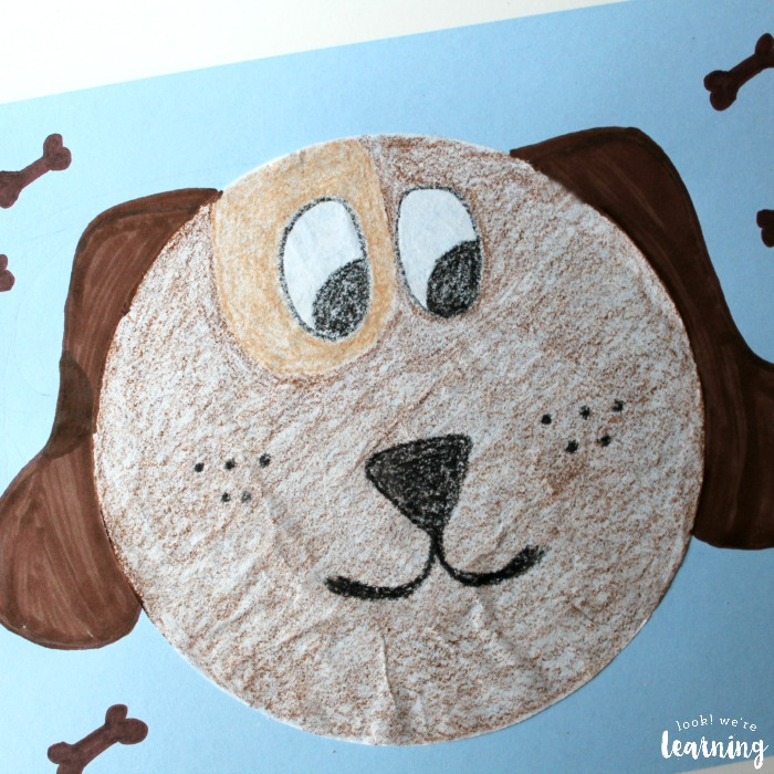 Easy Coffee Filter Dog Craft for Kids to Make