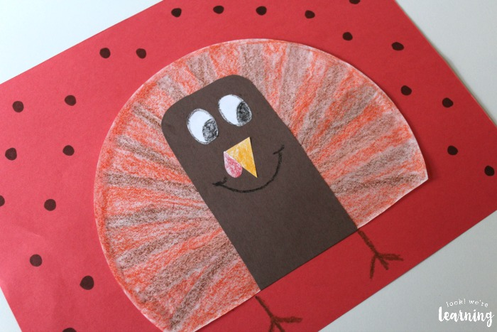 Fun Coffee Filter Turkey Craft for Kids