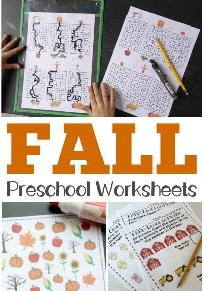 Make the most of autumn learning for your little one with these fall preschool worksheets!