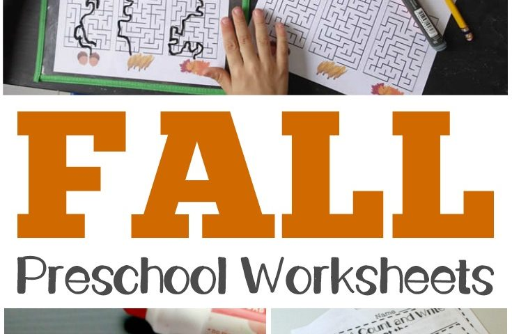 Preschool Worksheets: Fall Preschool Worksheets