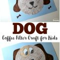 Make this easy coffee filter dog craft with the kids to share a fun art project together!
