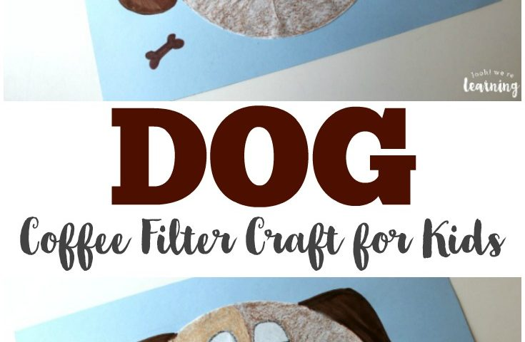 Coffee Filter Crafts for Kids: Coffee Filter Dog Craft