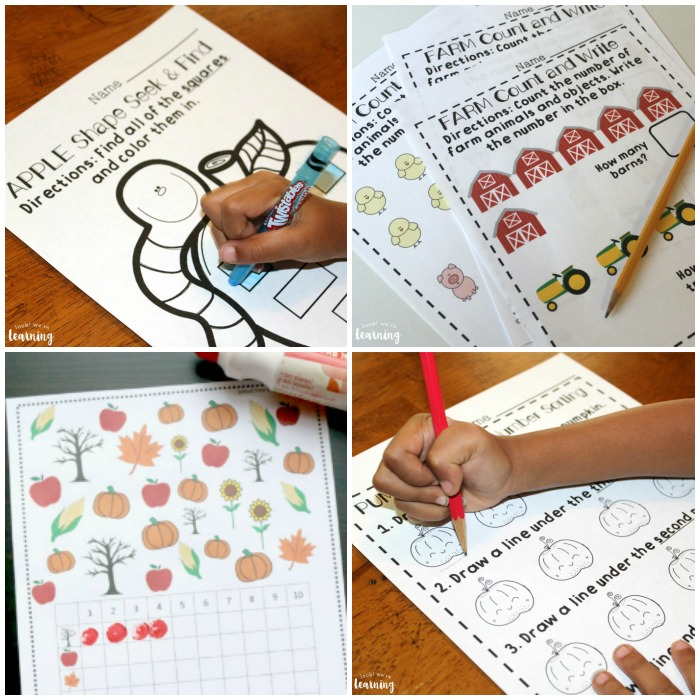 Printable Fall Preschool Worksheets