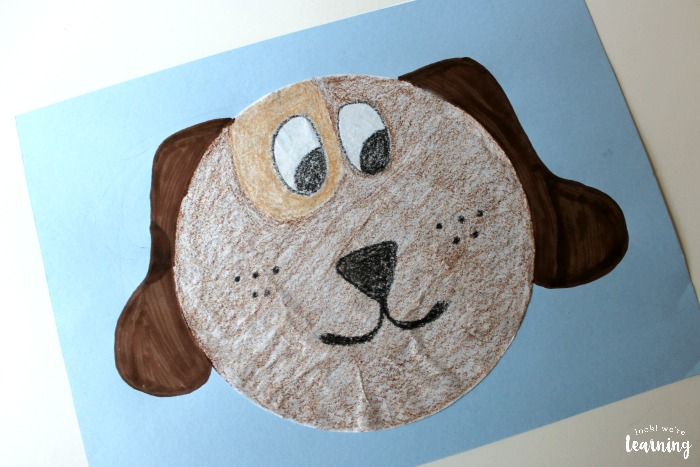 Simple Coffee Filter Dog Craft for Kids