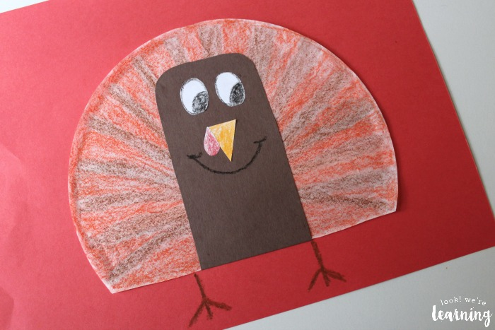 Simple Coffee Filter Turkey Craft