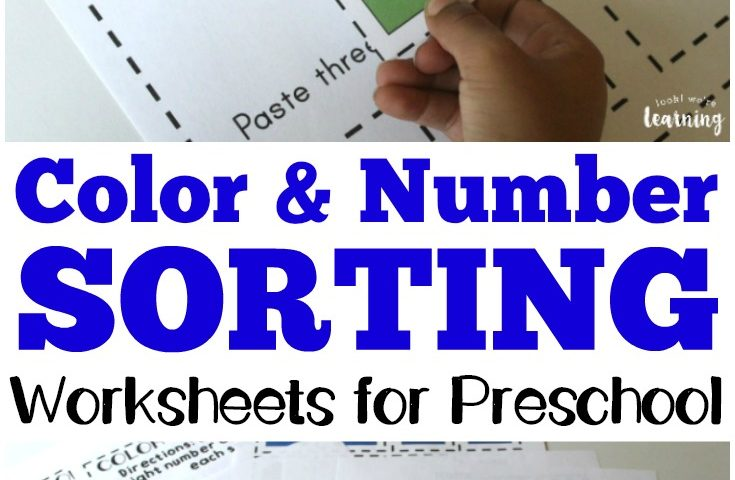 Preschool Worksheets: Preschool Sorting Worksheets