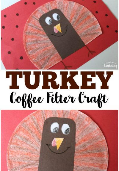 This easy coffee filter turkey craft is a neat farm project to make with kids!
