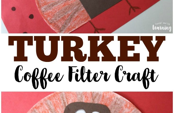 Coffee Filter Crafts for Kids: Coffee Filter Turkey Craft