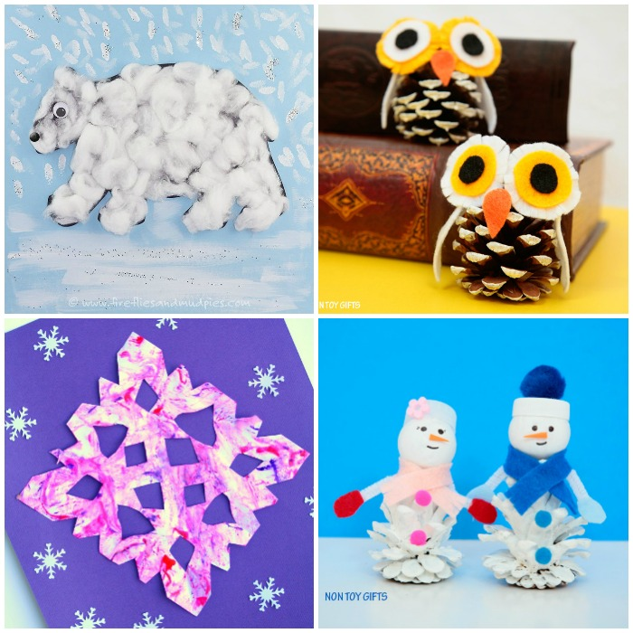 50 Easy Winter Crafts for Kids