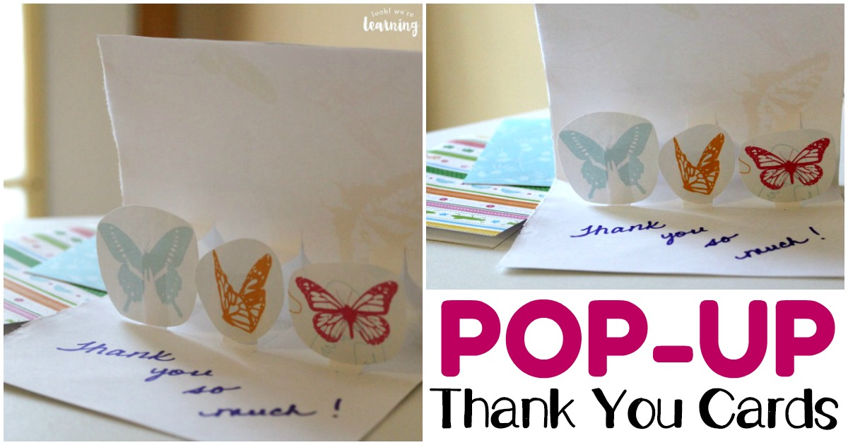 Easy Pop Up Thank You Cards for Kids to Make
