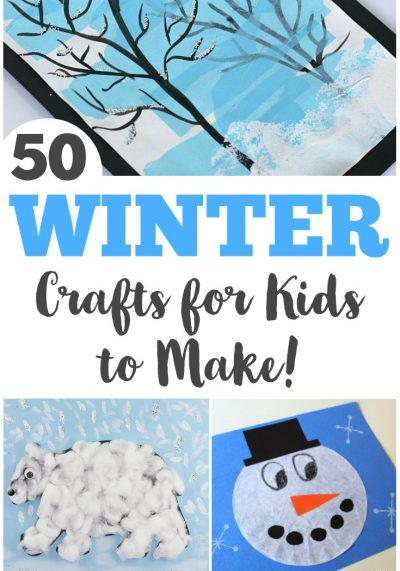 Make some of these easy winter crafts for kids with your family this year!