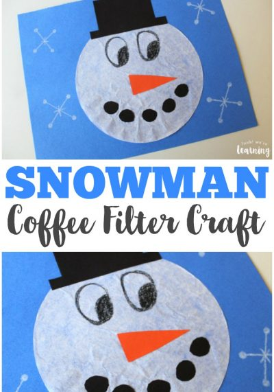 Coffee Filter Crafts for Kids: Coffee Filter Snowman Craft