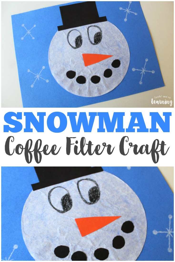 Coffee Filter Crafts For Kids Coffee Filter Snowman Craft