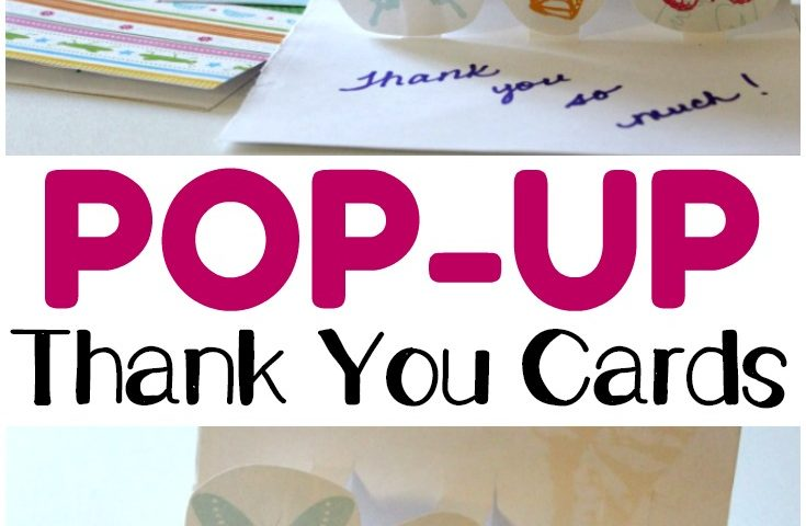 DIY Pop Up Thank You Cards