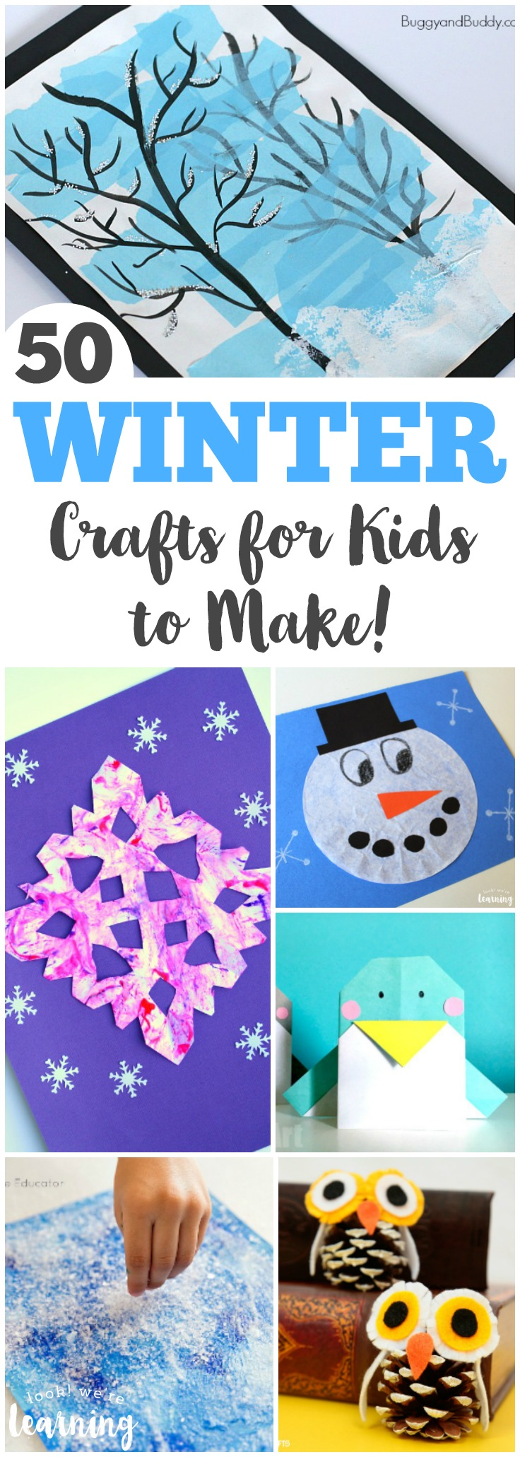 Easy Winter Kids Crafts That Anyone Can Make: 50 Fun And Easy Winter Crafts For Kids