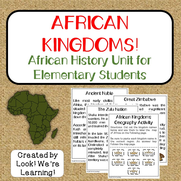 African Kingdoms Printable Unit Study