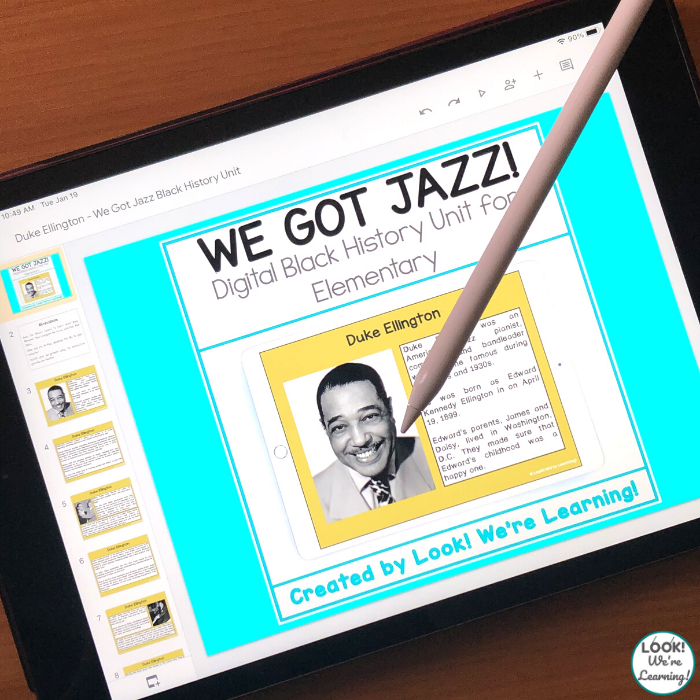 Digital Jazz Black History Unit for Elementary