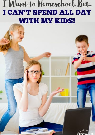 Do you want to homeschool but feel that you can't possibly spend all day with your kids? Here's how to manage it.