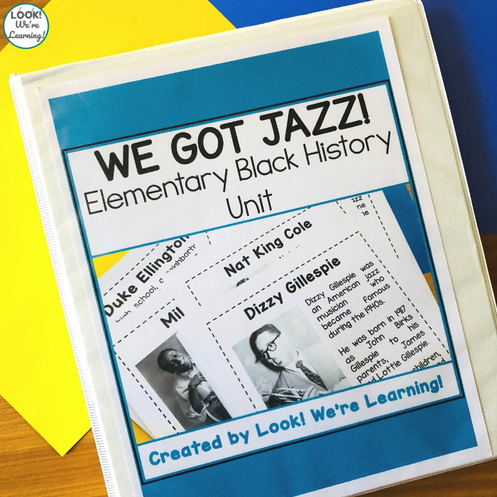 Elementary Jazz Black History Unit for Kids