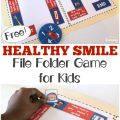 Help your children learn to practice good dental habits with this fun healthy smile file folder game for kids!