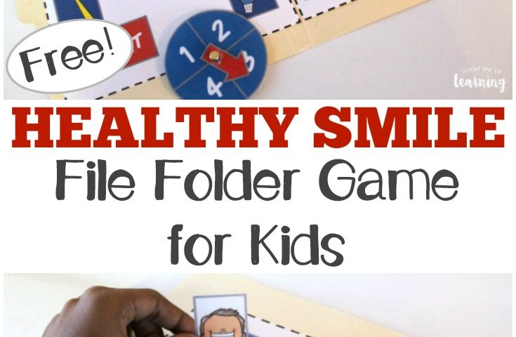 Healthy Smile File Folder Game for Kids
