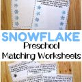 Make shape discrimination into a fun winter learning activity with these snowflake preschool matching worksheets!