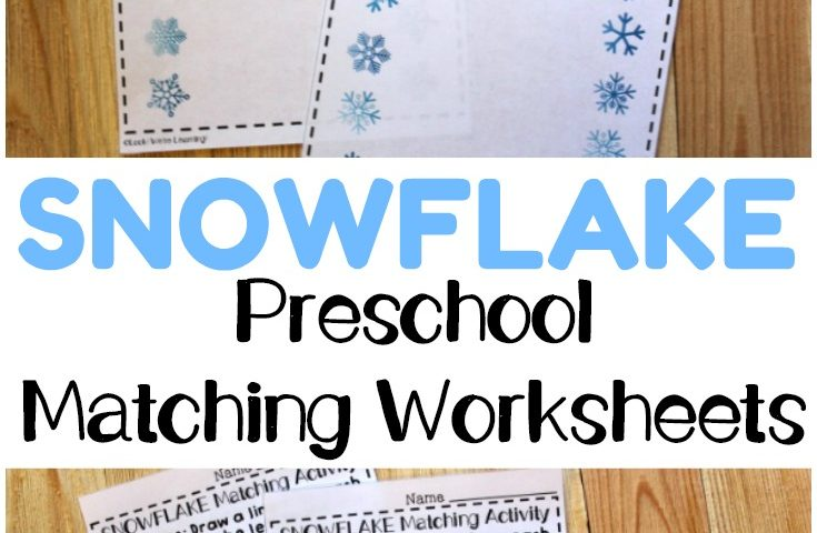 Preschool Worksheets: Snowflake Preschool Matching Worksheets