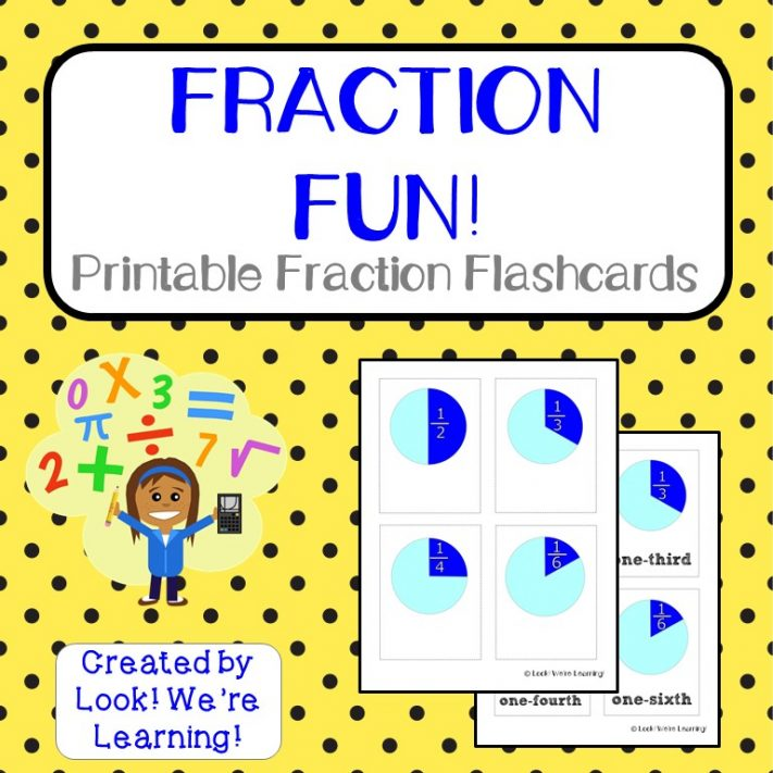 Printable Fraction Flashcards