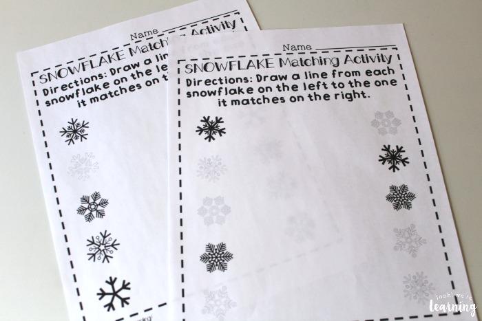 Preschool Worksheets Snowflake Matching Look. Snowflake Matching Worksheets For Preschool. Preschool. Preschool Worksheets At Mspartners.co