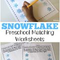 Teach preschoolers to recognize same and different this winter with these snowflake preschool matching worksheets!